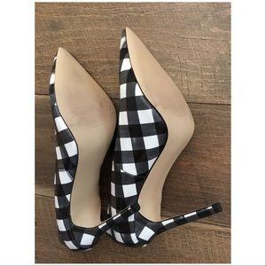 a3f10dfc3df Zara Heels Black & White Checkered NWT Boutique